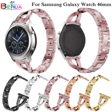 46mm watch band For samsung Galaxy Replacement Alloy diamond woman luxury Wristband strap 22mm