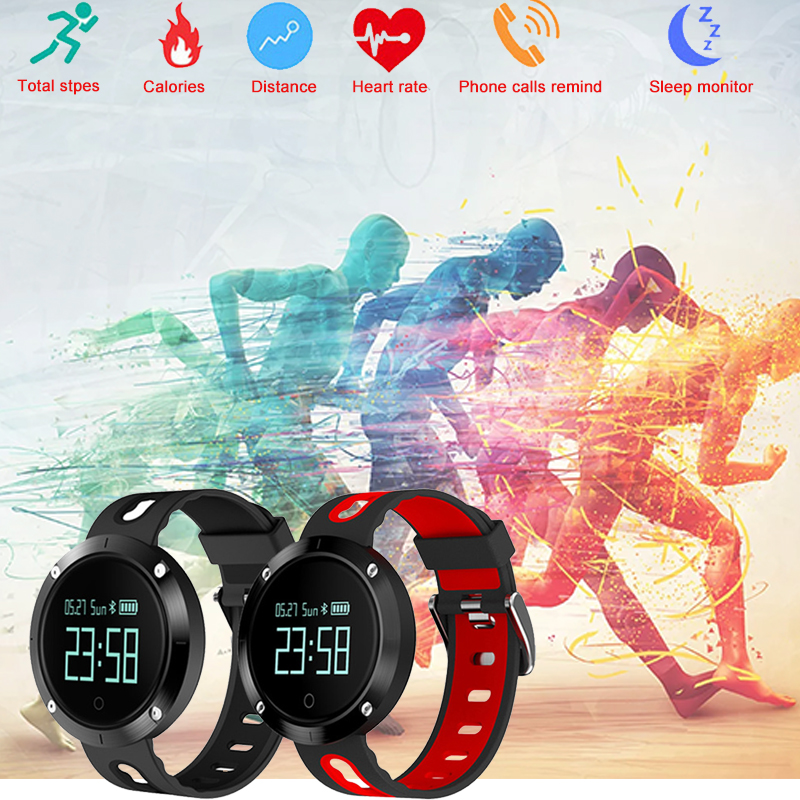 DM58 Bluetooth Sports smartband Wristband Heart Rate Smart Band Blood Pressure Monitor Heart Rate smart bracelet PK mi band 2#C0 цена 2017