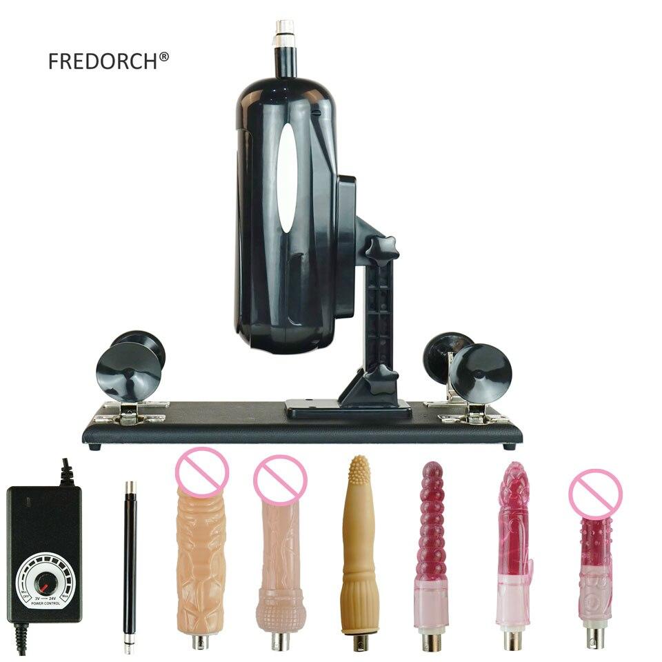 FREDORCH F2 новая упаковка секс машина массажный инструмент автоматический ручной бесплатный продукт для взрослых интимные товары с 6 фаллоимит