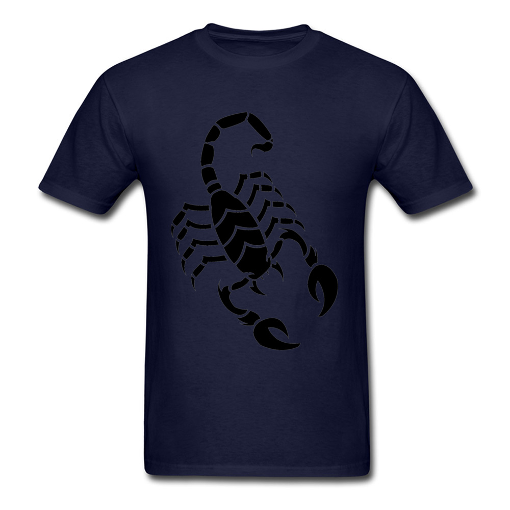 Tops Shirt Scorpion Father Day Coupons Printing Short Sleeve All Cotton Round Neck Men T Shirt Printing Tee Shirt