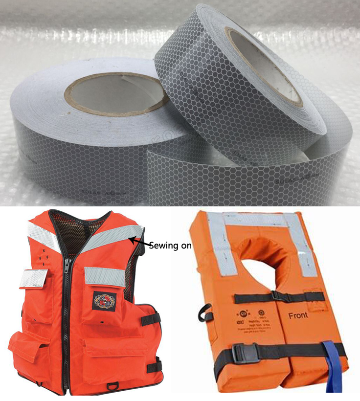 Solas Grade Marine Reflective Tape for Life-Saving Products sewing on clothes