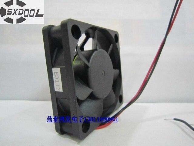 SXDOOL 24v fan 5015 BP501524H 50mm 5cm DC  0.17A 2Wire axial casse Cooling Fan sxdool mds c1 v1 fan nc5332h44 mmf 09d24ts rn9 dc 24v 0 19a server inverter cooling fan