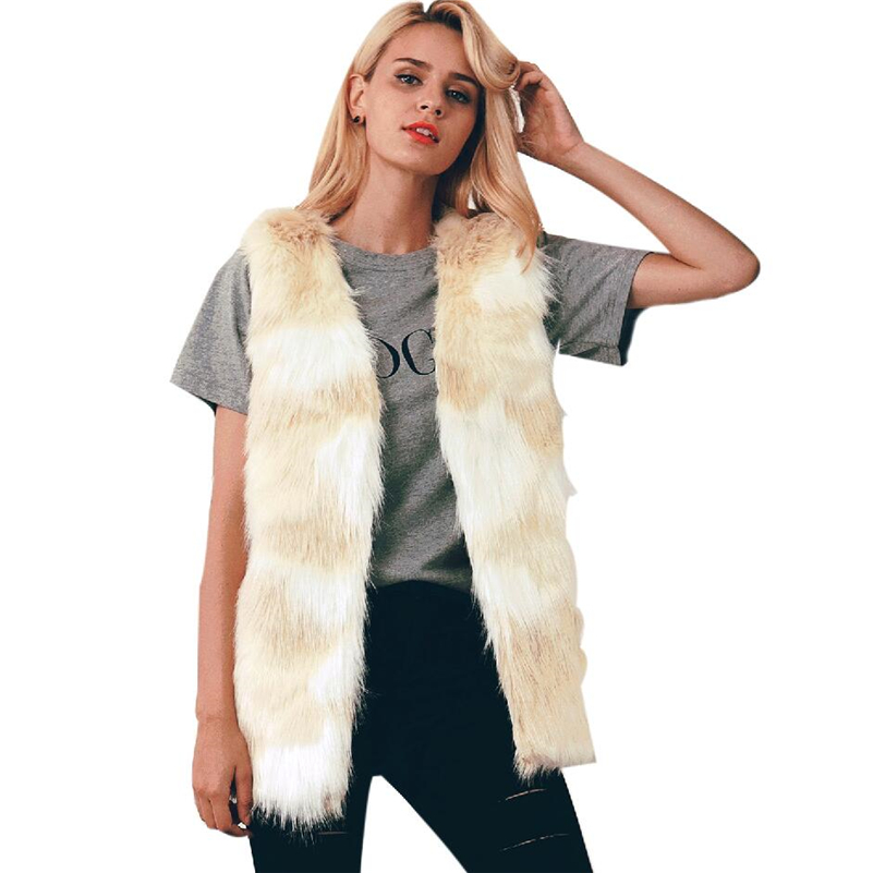 Winter Women s vest Warm Luxury Fur Vest for Faux Coat Vests Coats Jacket High Quality Furry