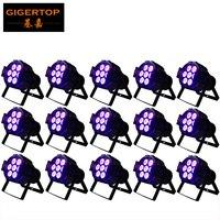 15pcs Lot RGBW DMX512 LED Par Can 7 10W Stage Lights Aluminum Housing For Disco Ballroom