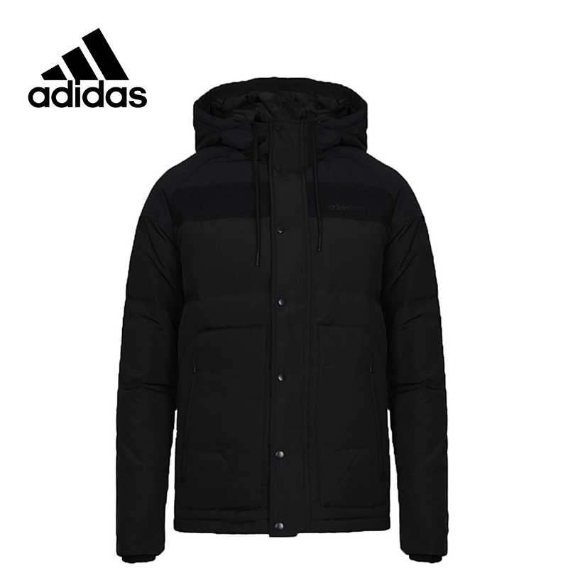 Adidas Original New Arrival Official NEO DOWN JK Men's Windproof Jacket Hooded Sportswear CD2324 adidas new arrival official ess 3s crew men s jacket breathable pullover sportswear bq9645
