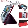 Tab 2 10.1 p5100 p5110 case soporte del tirón folio de cuero de la pu cubierta case para samsung galaxy tab 2 10.1 tablet p5100 gt-p5110 case