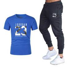 2019 New T-shirt+Pants Mens Sets Jordan 23 Print Men Brand Clothing Two piece suit Sportswear Tracksuit Gyms Jogger