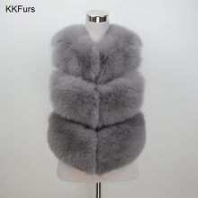 JKKFURS 2019 New Arrivals Real Fur Waistcoat Women Winter Genuine Soft Fox Vest High Quality Lady Fashion Gilet S1673