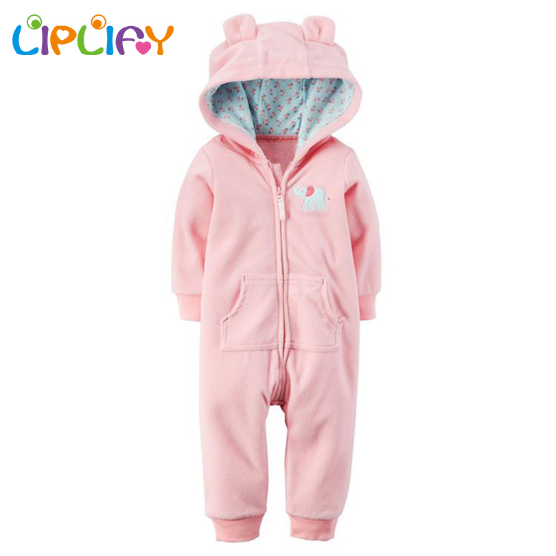 2017 New Baby Rompers Newborn Baby Girls Romper Jumpsuit Hooded Infant Winter Warm Romper for Baby Boys Rompers Girls newborn baby rompers baby clothing 100% cotton infant jumpsuit ropa bebe long sleeve girl boys rompers costumes baby romper