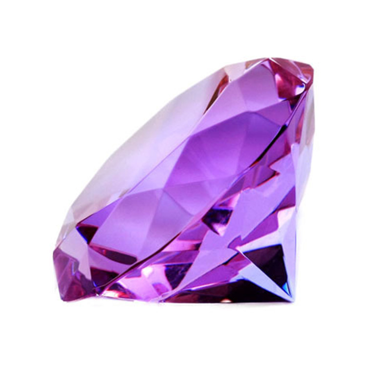 stock of up white isolated purple close crystal photography on background singe image studio diamond