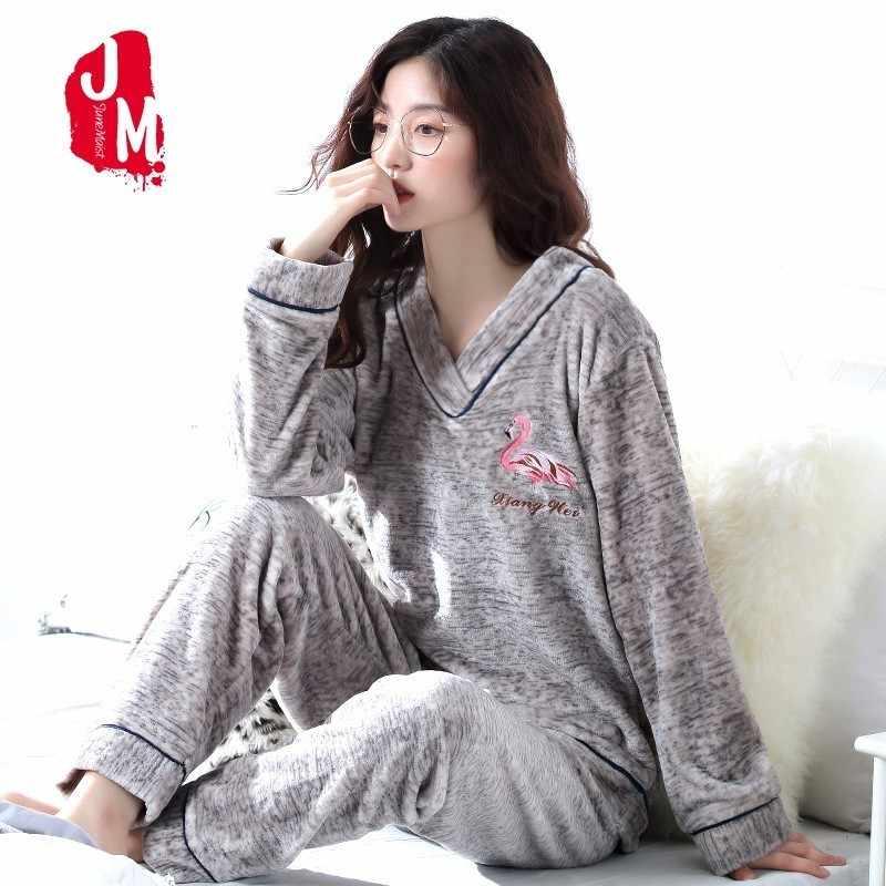 ec68b0639 Thick Pyjamas Women Winter Warm Coral Fleece Women Pajamas Sets Soft Coral Fleece  Pajamas Female Winter