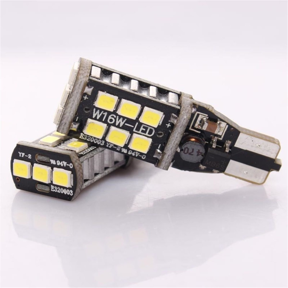 10x T15 912 906 CANBUS Super Bright 800 Lumens 6000K Xenon White High Power 2835 15-SMD LED Lights Bulbs for Reverse Light