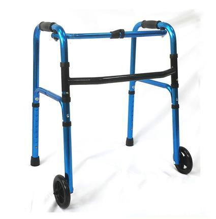 Aluminum alloy wheel folding elderly supplies auxiliary equipment folding line is children help step four feet walking stick
