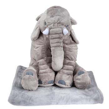 Peluche Éléphant Géant Avec Rangement Couverture