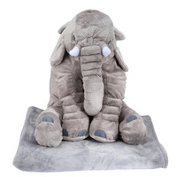 Colorful Giant Elephant Stuffed Animal Toy Cotton Plush Animal Toy Doll Pillow With Blanket Birthday Christmas Gift For Kids