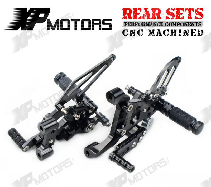 CNC Racing Black Rear sets Adjustable Foot pegs Rear Set Fits For Ducati 899 1199 Panigale/S/R 2012 2013 2014