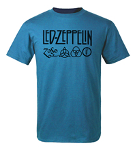 Led Zeppelin Rock Band T Shirt Men 2017 Hot Summer Short Sleeve Round Neck T-Shirt 100% Cotton Punk Fitness Tshirt Men Top Tees