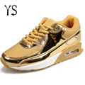 Ouro Mens Sapatos de Ar Masculino Respirável Moda Casual Krasovki Tenisky Detetive Gumshoe Calçado 2016 H-033