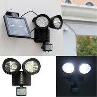 Dual Security Detector Solar Spot Light Motion Sensor Outdoor 22 LED Floodlight F116