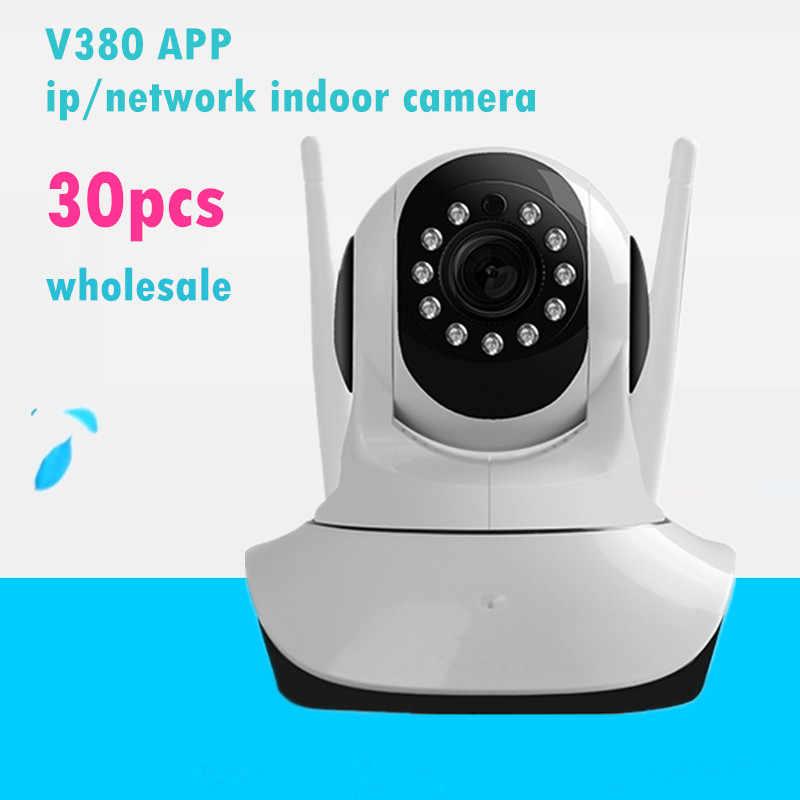 Оптовая продажа HD 720 P Беспроводной IP Камера Wi-Fi видеонаблюдения дома Ночное видение CCTV Видеоняни и радионяни V380 сетевой карты памяти SD
