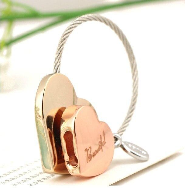 Milesi -Neues Geschenk Marke Herz Schlüsselanhänger Schlüsselbund - Modeschmuck - Foto 3