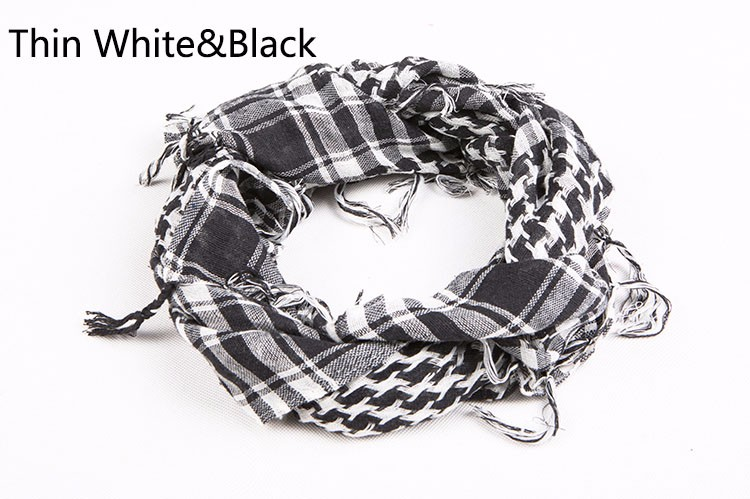 Tactical Scarves Military Windproof Winter Scarf Men Muslim Hijab Tactical Shawl Keffiyeh Scarves 100% Cotton Scarf Unisex 2