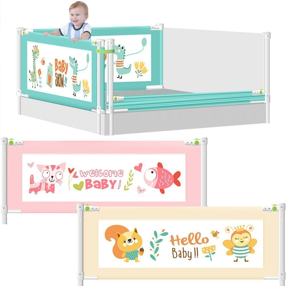 Baby Bed Fence Playpen Home Kid Baby Safety Gate Anti-fall Fence Child Care Barrier Crib Rails Infant Security Guardrail