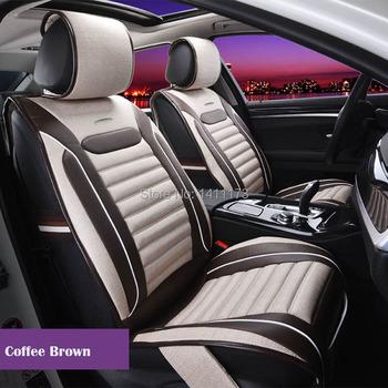 Wysokość jakości pościel i PU uniwersalny 5 miejsc zima fotelik samochodowy poduszki pokrowce na siedzenia fotelik samochodowy obsługuje 7 sztuk zestaw dla ogólnie samochód tanie i dobre opinie Pokrowce i podpory 5 5kg 60cm 50cm AutoDecorun 135cm Cztery pory roku Seat cushion series Dark Grey Dark Yellow Coffee Brown