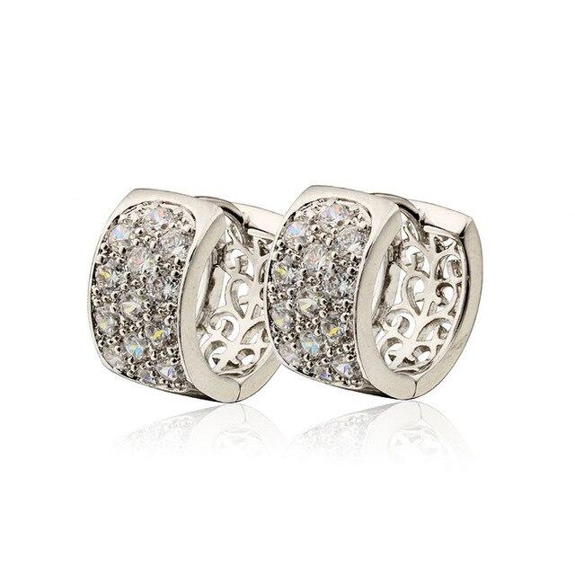 2017 Sale Hoop Earring Costume White Gold Color Romantic CC Earrings For Women Bijoux brincos fashion jewelry  19EW-29