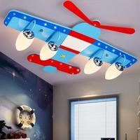Children Toy Modern Room Ceiling Lamp Light Boy Room Creative Cartoon Plane Lamp LED Eye Bedroom