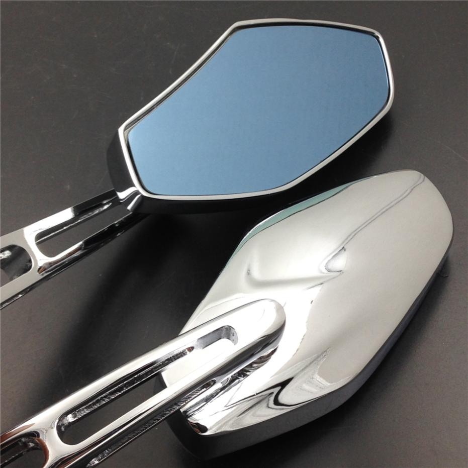 For font b Motorcycle b font Honda suzuki kawasaki cruiser chopper sports CHROME Racing Rearview Mirror
