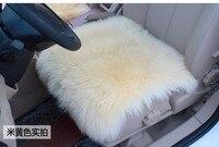 Pelle di Pecora inverno Cuscino del Sedile Auto Lungo di Lana Car Seat Cover Piazza Top di Lusso Fit For Home Office Sedia 45x45 cm 6 Colori 1 PZ