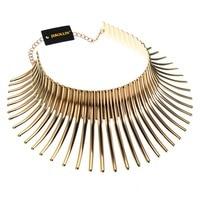 JEROLLIN Fashion Unique Jewelry Silver Gold Color Sparkling Chunky Choker Noble New Toques Bib Pendant Necklace