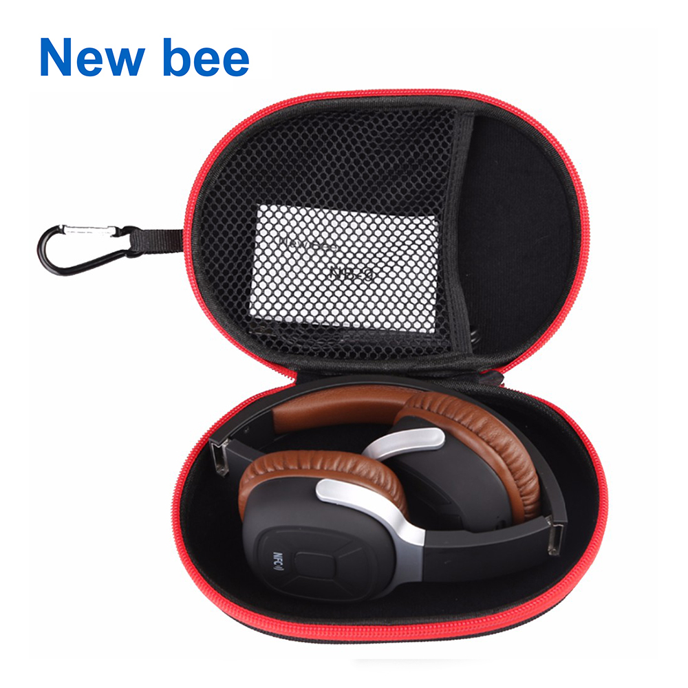 New Bee EVA Headphone Case Portable storage headset bag High Quality Earphone Accessories Zipper Box