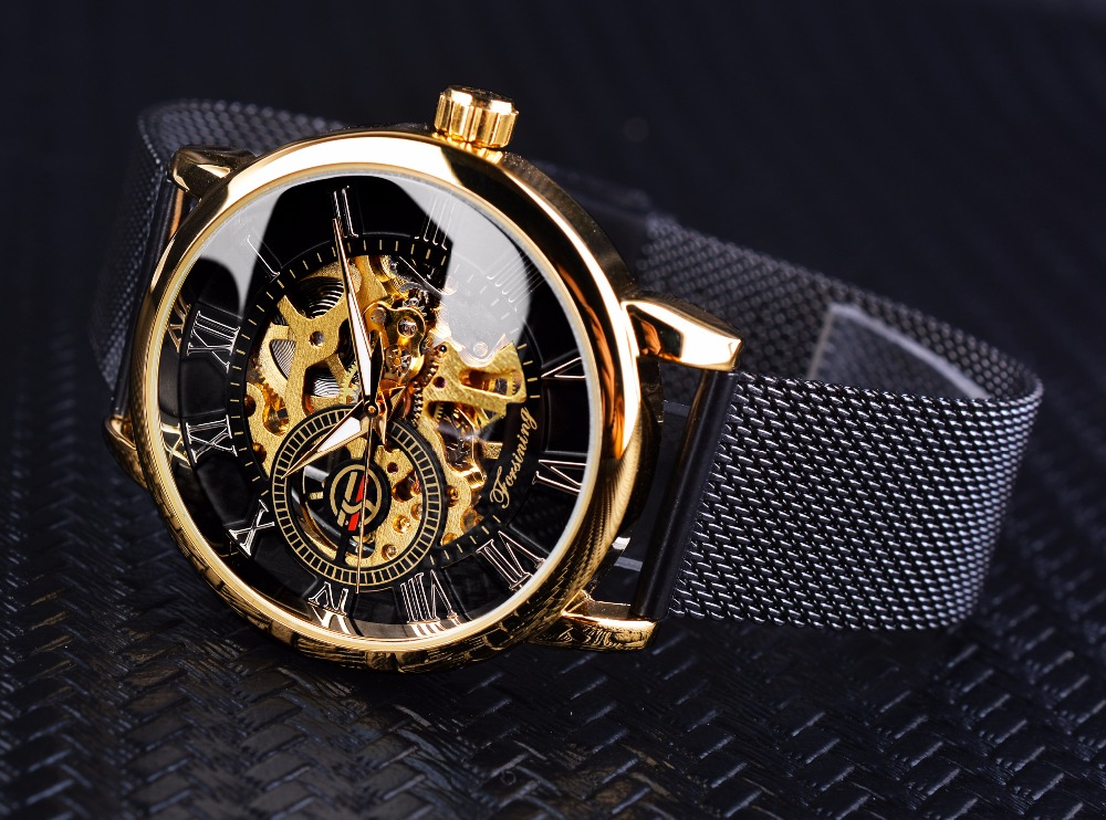 HTB12OKKKk9WBuNjSspeq6yz5VXa9 Forsining Transparent Case 2017 Fashion 3D Logo Engraving Golden Stainless Steel Men Mechanical Watch Top Brand Luxury Skeleton