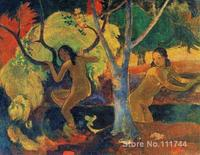 paintings of Paul Gauguin Bathers at Tahiti artwork Landscape art High quality Hand painted