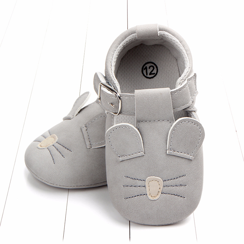 Baby First Walkers Matte leather Shoes for Baby Girl Boy Cartoon Animal Newborn Slippers Footwear Booties Kids Gift Child Shoes (16)
