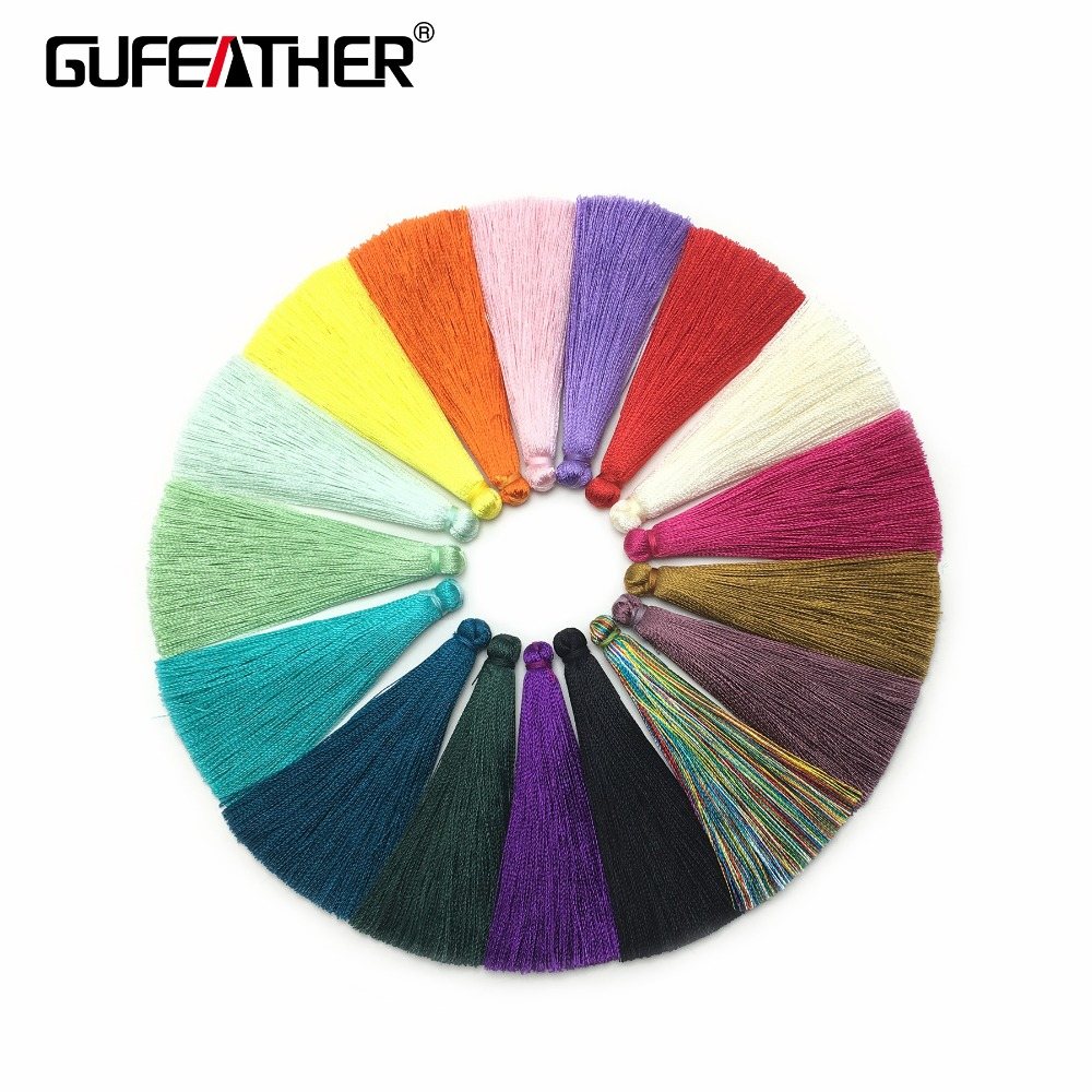 GUFEATHER L24/6.5CM/silk tassel/earrings accessories /jewelry accessories/diy jewelry accessories/diy jewelry making 10pcs/bag