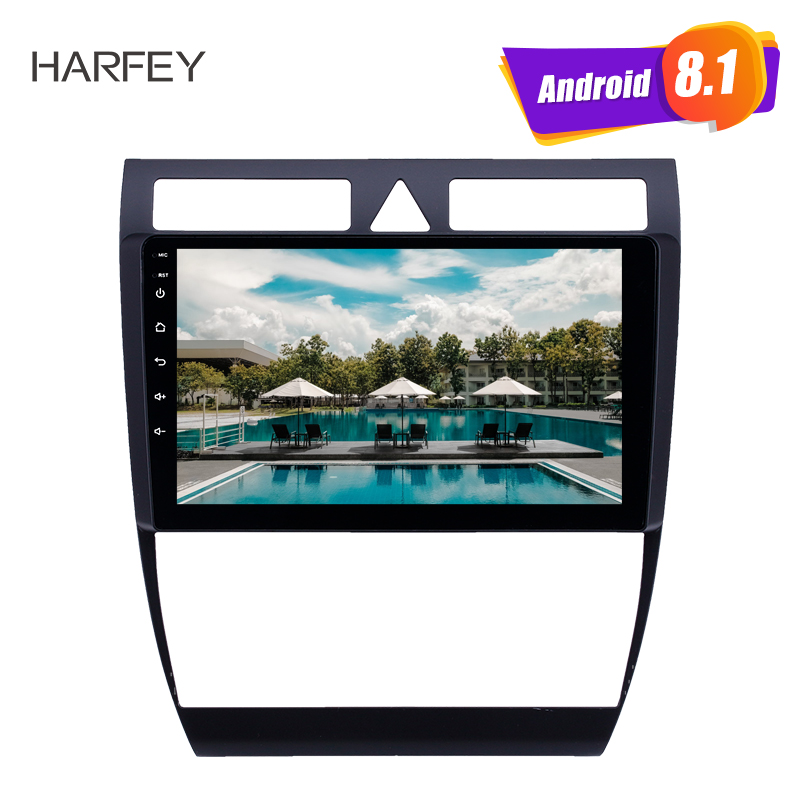 Harfey OEM 9 inch Android 8.1GPS Navigation car Radio for Audi A6 S6 RS6 1997 2004 WIFI HD Touchscreen AUX USB support Carplay