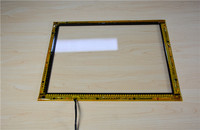 19.5 inch 10 touch points water proof infrared IR touch screen frame overlay with 2mm tempered glass