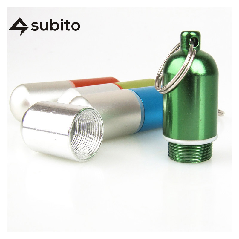 [ SUBITO ]  Small Waterproof Case Container Capsule Seal Bottle Holder  Medicine Dry Storage Box Outdoor Survival Emergency Tool