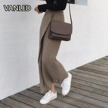 女性スカート Straght 新シックな復元ファッションハイウエスト女性