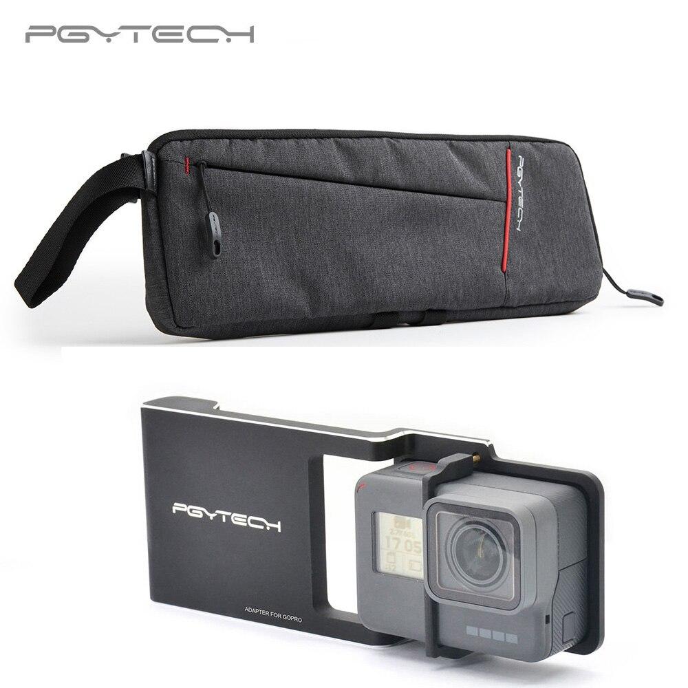 PGYTECH sac de rangement portable cardan de transport + adaptateur pour osmo mobile zhiyun Hero 6 5 4 3 + xiaoyi lisse Q plaque de montage de commutateur