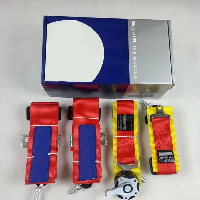 1 шт. Красный Новый 6-пойнт Гонки Ремня безопасности FIA Утверждено Срок 2020 не действует после 2020 Ремень SP06 (красный, синий, черный)