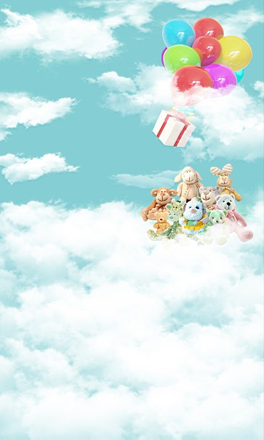 New Arrival Background Fundo Balloon Clouds Of Heaven 6.5 Feet Length With 5 Feet Width Backgrounds Lk 2274 new arrival background fundo various flowers stool 7 feet length with 5 feet width backgrounds lk 3776