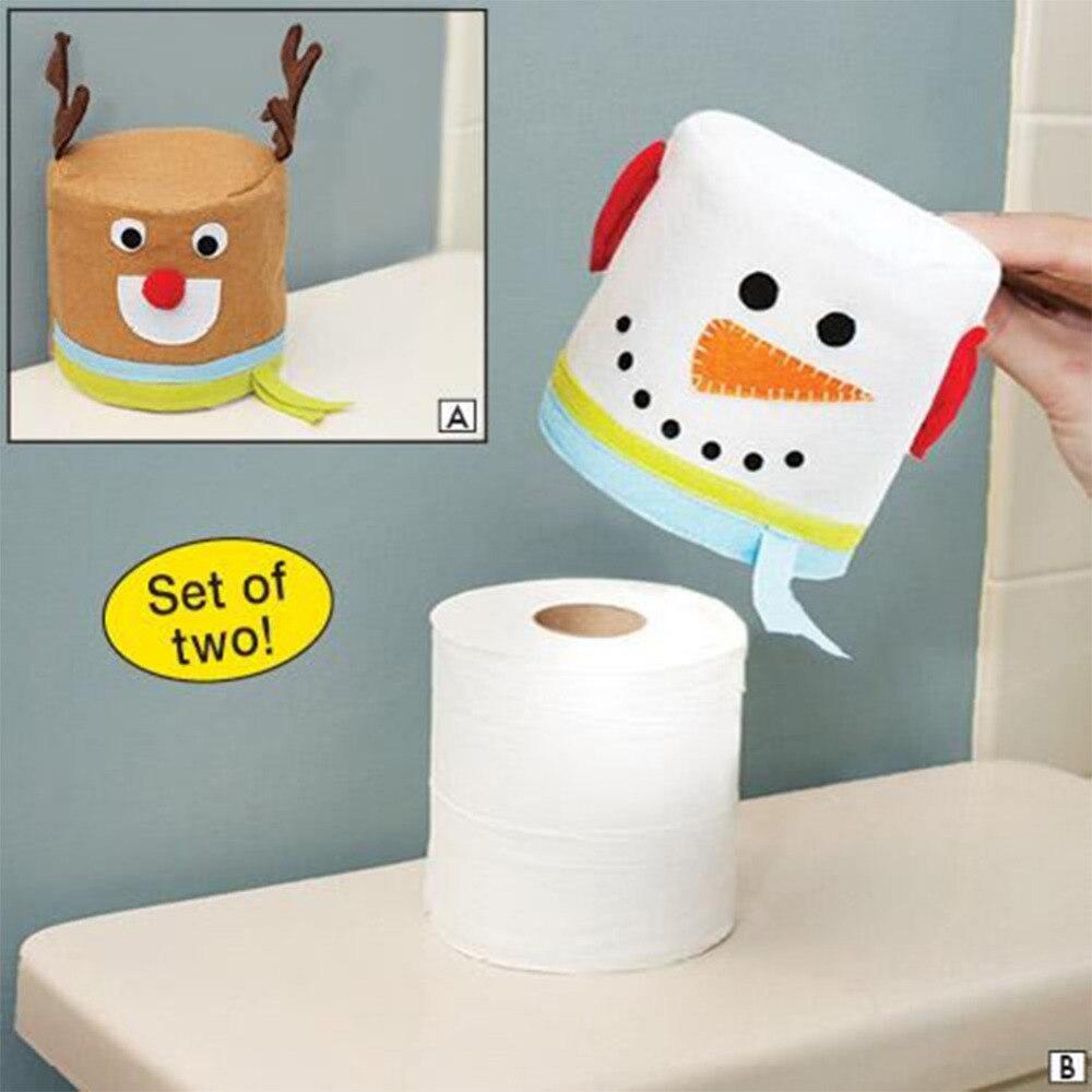 6pcs 27cm Christmas Tree Honeycombs Tissue Paper Trees: ̛� ̜�2 Pcs Santa ‰� Claus Claus Toilet Paper Holders Elk