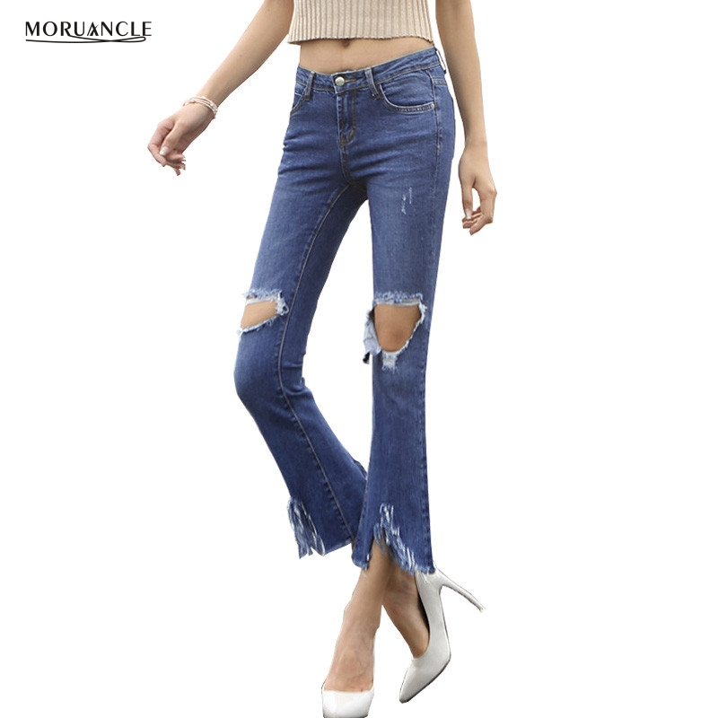 Popular Ripped Flare Jeans-Buy Cheap Ripped Flare Jeans lots from ...