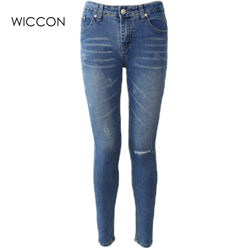 Ripped jeans for women Skinny Jeans Pencil Pants woman high waist jeans boyfriend female casual hole jeans denim length trousers 2017 ripped jeans women casual denim ankle length boyfriend pants women floral embroidered flares hole female slim pencil pants