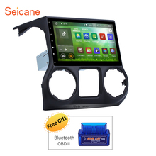 Seicane 10.1 Inch RAM 2GB Android 7.1 Car Radio for Jeep Wrangler 2008-2014 GPS Navigation 4G WIFI network Support Backup camera