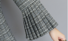 New Women Blazer Korean fashion Pleated Flare sleeve Suit Blazer